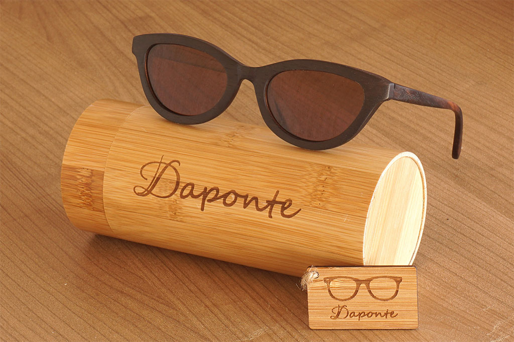 c9e0ef0ff6 Ξύλινα γυαλιά ηλίου    Ξύλινα Γυαλιά Ηλίου Daponte (Cat Eye Brown)