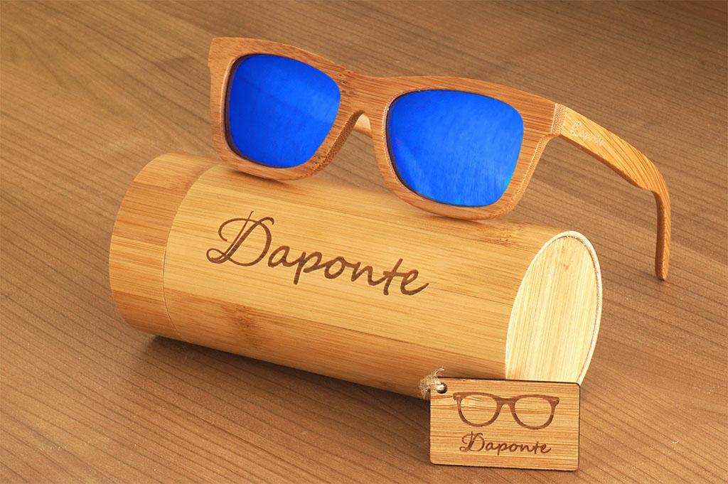 Ξύλινα γυαλιά ηλίου    Ξύλινα Γυαλιά Ηλίου Daponte (Wave Blue) ae98d186471