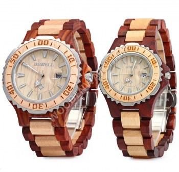 dc43995573 Ανδρικά   Γυναικεία Set  Νέα Ξύλινα Ρολόγια Gemini (Zebra) Set
